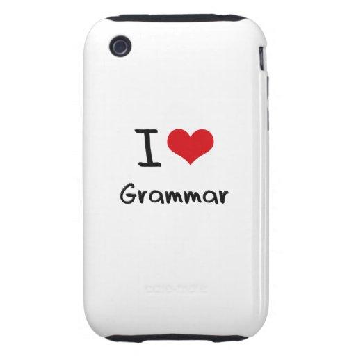 I Love Grammar Tough iPhone 3 Cover