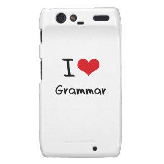 I Love Grammar Motorola Droid RAZR Case