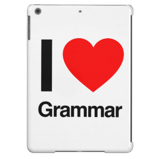 i love grammar iPad air covers