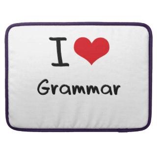 I Love Grammar MacBook Pro Sleeves