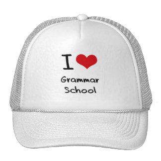 I Love Grammar School Trucker Hats