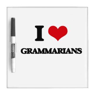 I love Grammarians Dry-Erase Board