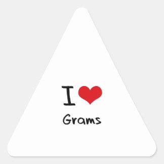 I Love Grams Triangle Sticker