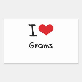 I Love Grams Rectangular Sticker
