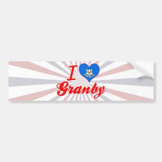 I Love Granby, Connecticut Bumper Stickers