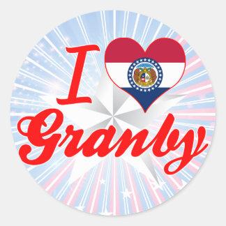 I Love Granby Missouri Stickers