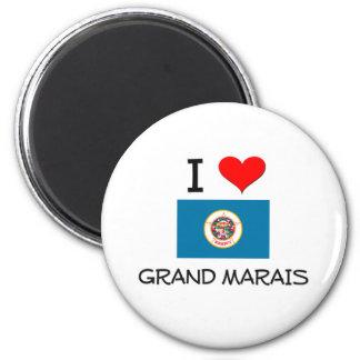 I Love Grand Marais Minnesota 6 Cm Round Magnet
