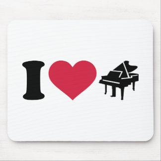 I love grand piano mouse pad