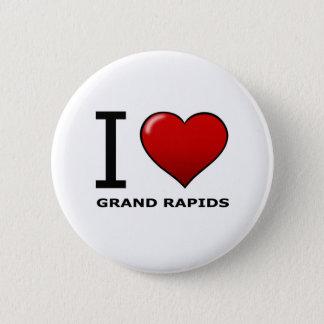 I LOVE GRAND RAPIDS,MI - MICHIGAN 6 CM ROUND BADGE
