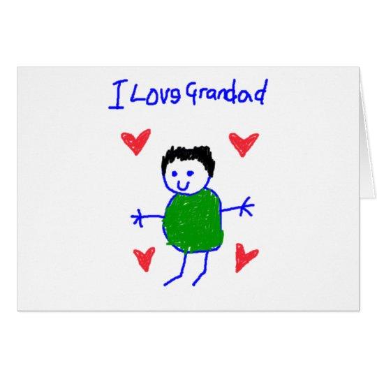 I Love Grandad Card