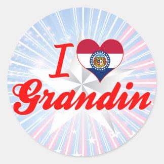 I Love Grandin, Missouri Round Stickers