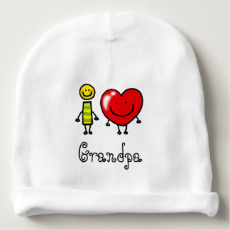 i love Grandpa (personalized) Baby Beanie