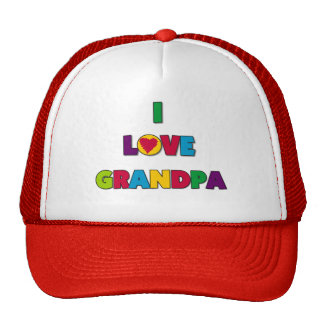 I Love Grandpa Tshirts and Gifts Cap