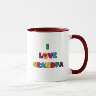 I Love Grandpa Tshirts and Gifts Mug