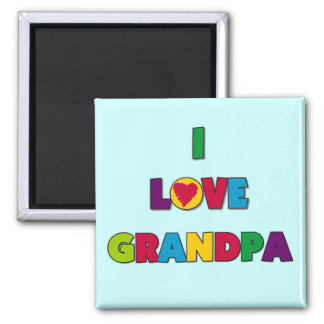 I Love Grandpa Tshirts and Gifts Square Magnet
