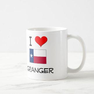 I Love Granger Texas Basic White Mug
