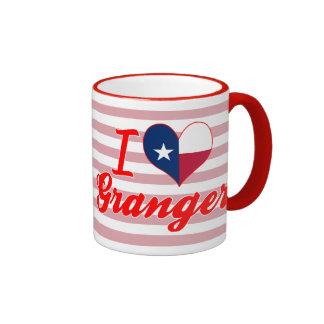 I Love Granger, Texas Ringer Mug
