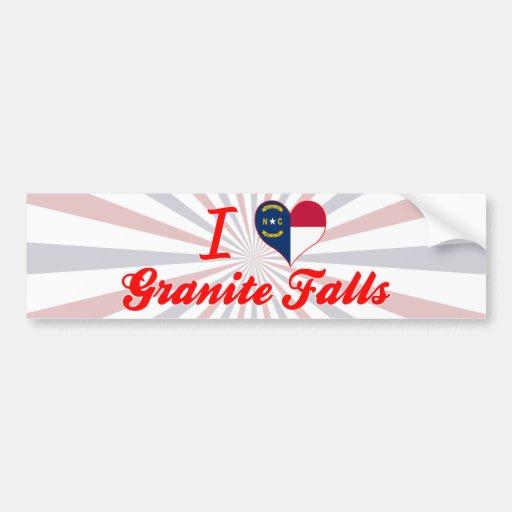 I Love Granite Falls, North Carolina Bumper Sticker