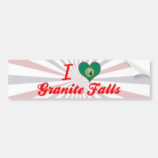 I Love Granite Falls, Washington Bumper Sticker
