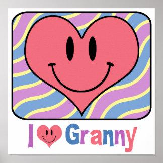 I Love Granny Print