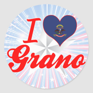 I Love Grano, North Dakota Stickers