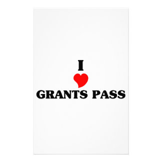 I love Grants Pass Personalized Stationery