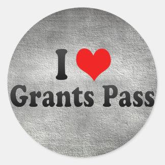 I Love Grants Pass, United States Round Stickers