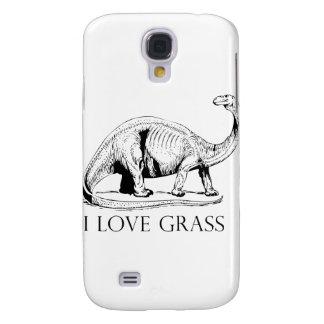 I Love Grass Dinosaurus Samsung Galaxy S4 Cover