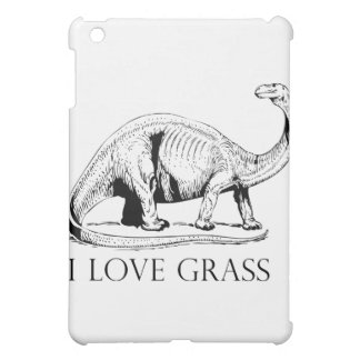 I Love Grass Dinosaurus Case For The iPad Mini