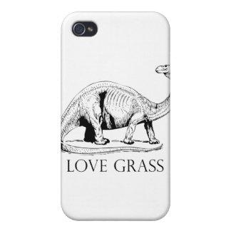 I Love Grass Dinosaurus iPhone 4 Covers