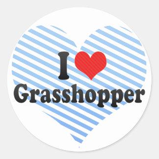 I Love Grasshopper Classic Round Sticker
