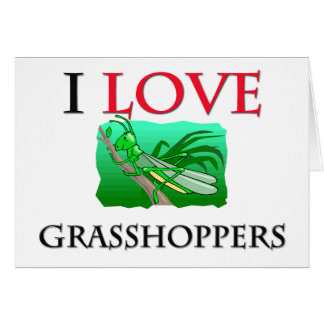 I Love Grasshoppers Card