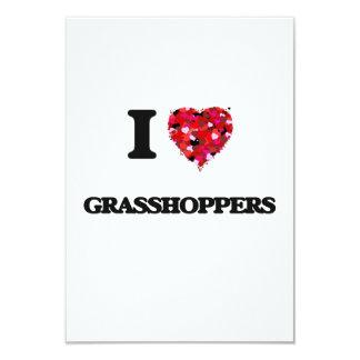 I Love Grasshoppers 9 Cm X 13 Cm Invitation Card