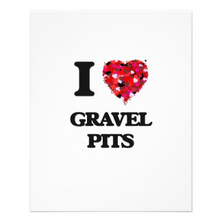 I Love Gravel Pits 11.5 Cm X 14 Cm Flyer