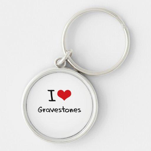 I Love Gravestones Key Chain