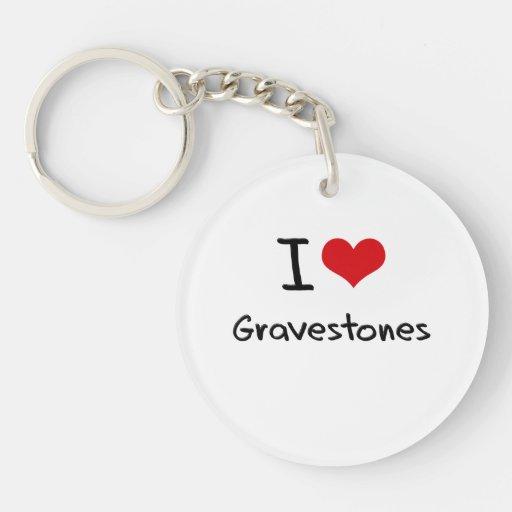 I Love Gravestones Acrylic Key Chain