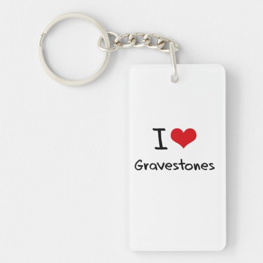 I Love Gravestones Acrylic Keychain