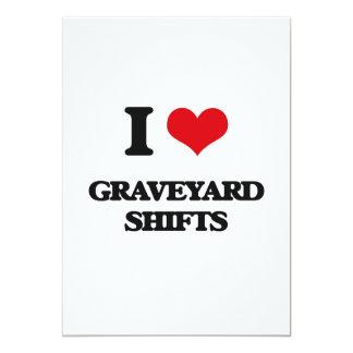 "I love Graveyard Shifts 5"" X 7"" Invitation Card"
