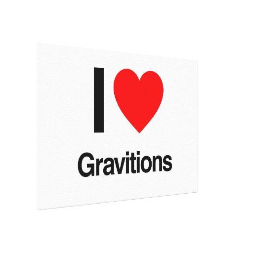 i love gravitations canvas prints