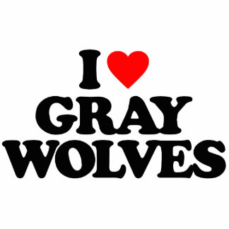 I LOVE GRAY WOLVES PHOTO CUT OUT