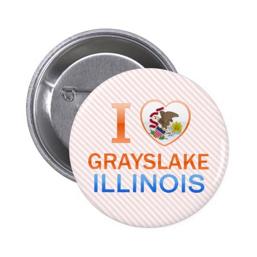I Love Grayslake, IL Buttons