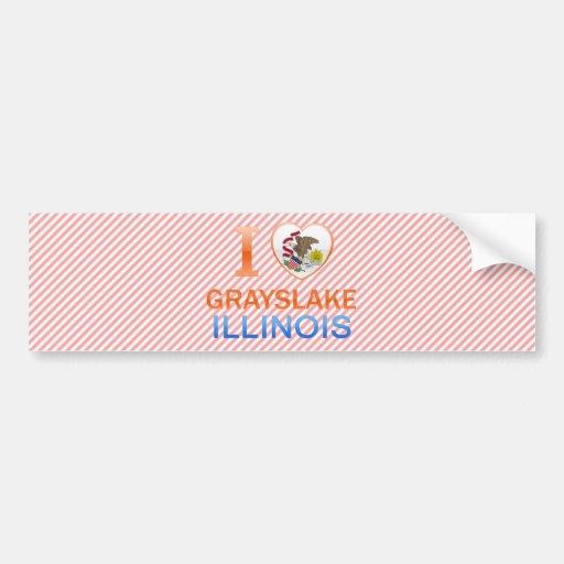 I Love Grayslake, IL Bumper Stickers