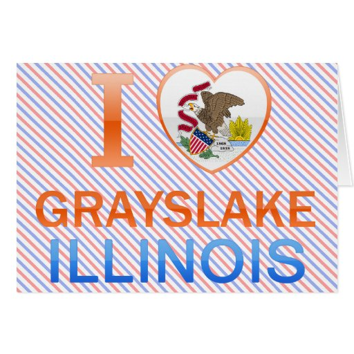 I Love Grayslake, IL Greeting Cards