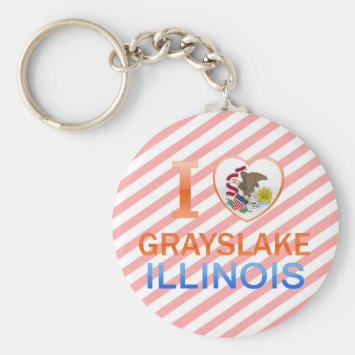 I Love Grayslake, IL Keychains