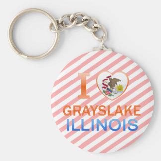 I Love Grayslake IL Keychains