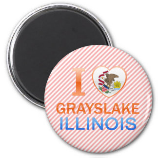 I Love Grayslake, IL Refrigerator Magnet