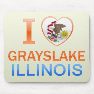 I Love Grayslake IL Mouse Pad