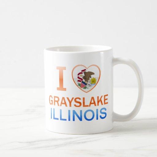 I Love Grayslake, IL Coffee Mugs
