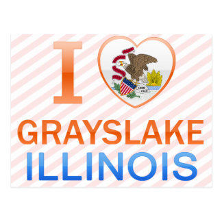 I Love Grayslake IL Post Card
