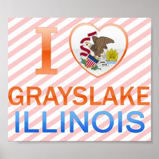 I Love Grayslake, IL Print